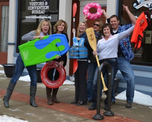 Ready for Huntington's newest festival, Splash on the Wabash, are steering committee members (from left) Kandi Tom-Dunwiddie, Amy Pasko, Tina Bobilya, Ruth Marsh, Cheryl Jarrett and Lee Pasko.