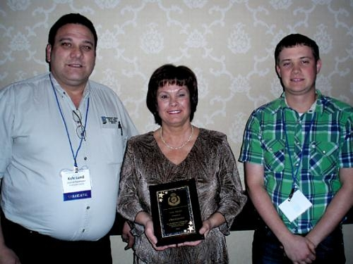 Kyle Lund (left), supervisor with the Huntington County Soil and Water Conservation District; Cheryl Jarrett (center), SWCD office manager; and SWCD Supervisor Andy Ambriole (right) attended the annual conference.
