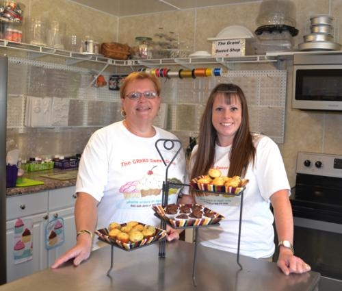 Robin Lipp (left) and Kelly Clanin have opened The Grand Sweet Shop, which offers made-to-order bakery items and candies.