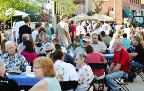 A crowd gathers in downtown Roanoke for the 2012 edition of Taste of Roanoke, featuring food samples from area restaurants and organizations. The event, complete with live music, will return on Saturday, Aug. 17.
