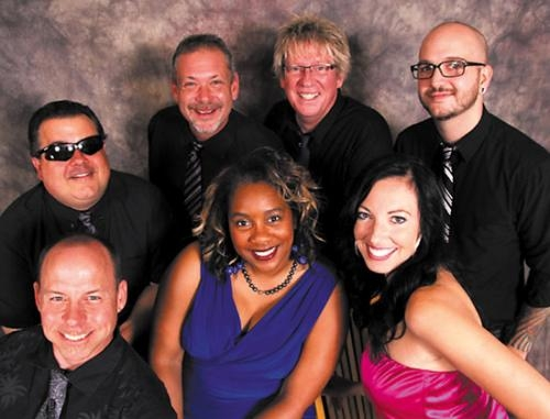 Members of the band Urban Legend, which will perform at Taste of Roanoke on Aug. 17, are (front row, from left) Mike DuPuis, Lisa McDavid and Lisa Loza; and (back row from left) Tony Zuber, Mike Rogers, Mark Gevaart and Matt Schory.