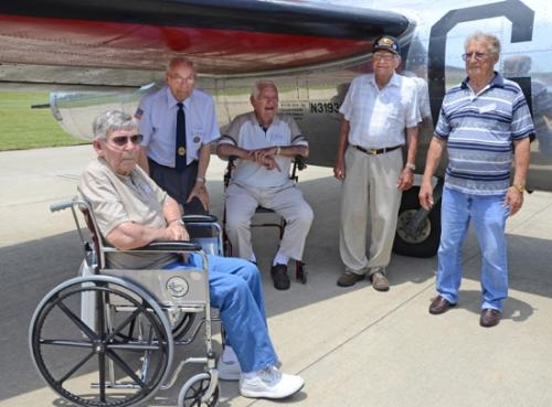 Several groups and individuals got together to sponsor four World War II veterans to ride on the B-17 bomber which visited the Huntington Airport during Heritage Days this past weekend.