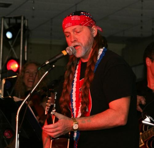 Jeff Carr performs as Willie Nelson during a tribute concert. He will appear at The Cottage Event Center in Roanoke on Aug. 23 with Steven Ross Jahn who will perform as Toby Keith.