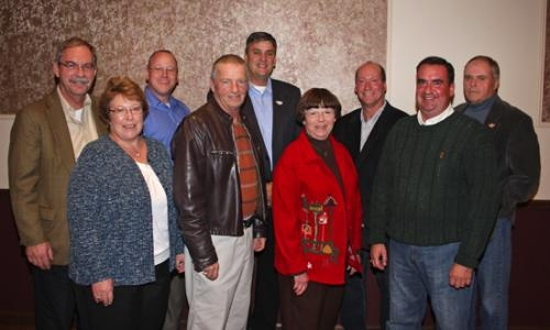 Republican party candidates winning their seats on Tuesday, Nov. 6, gather for a photo at the Cottage Event Center in Roanoke.