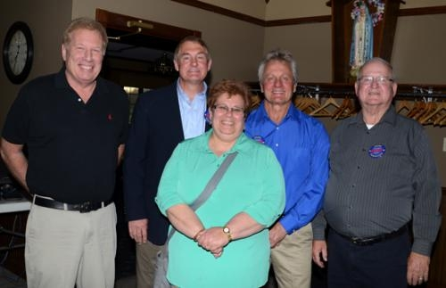 Winners of the contested races in the Huntington County Republican primary election on Tuesday, May 6, take time for a photo after the election results were announced.