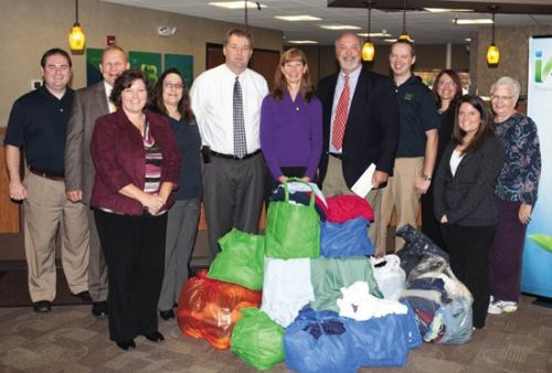 Nearly 400 pounds of clothingwas recently donated to a medical clinic in Haiti by iAB employees.