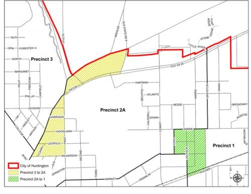 The Huntington County Clerk's office has announced boundary changes for two voting precincts within the city of Huntington.