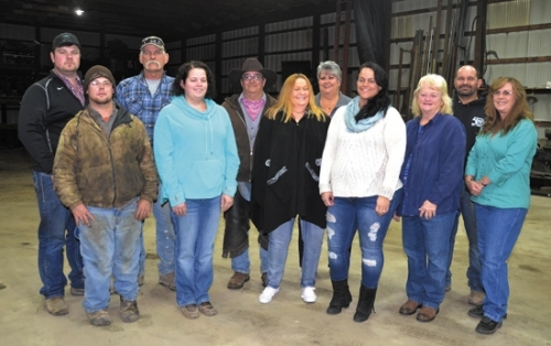 Members of the animal rescue team include (front, from left) Lance Kreider, Linzy Lahr, Paula Evans, Jenelle Conley, Leslie Zahm and Denise Kreider; and (back, from left) Dakota Sunday, Rusty Sunday, Phil Kreider, Lori VanOver and Chad Kreider. Also on call are Joe Landrum, Angie Sunday, Tom Wall and Penny Garretson.
