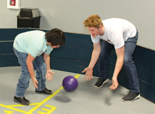 Parkview Boys & Girls Club of Huntington County Junior Staff member Charlie Agnew (right) fends off an attack in the gaga pit from Holden Moyer. Agnew, who is also a member of the club, was chosen as the 2019 Youth of the Year recently, and also tapped to be on the Boys & Girls Club's national steering committee.