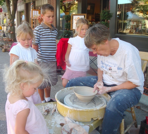 Linn Bartling demonstrates the pottery wheel during last year's Renaissance in Roanoke event. The arts festival will be held this year on Saturday, Oct. 10, in downtown Roanoke.