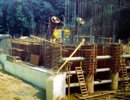 This photo — originally taken by Clyde Dawson, a rural postal carrier from Lagro — shows the construction of the Salamonie Dam's inner structure.