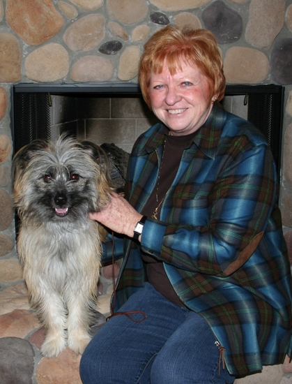 Kathy Rhodes and Zhako enjoy some down time after attending the Westminster Kennel Club Dog Show on Feb. 11. Zhako returned home with a Best of Winners ribbon.