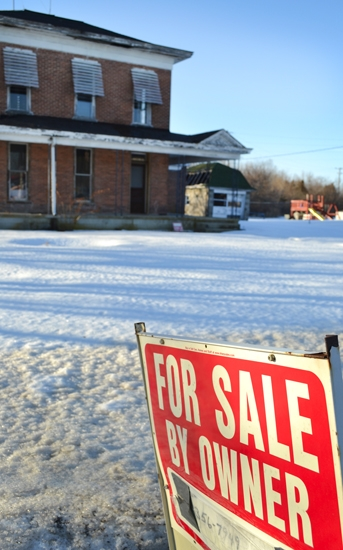 "With a 2.5 percent drop in population over the past decade, more ""for sale"" signs are popping up around Huntington County."