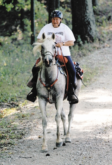 Janet Kirkpatrick and her horse Booker recently surpassed the 5,000-mile mark in miles ridden in endurance competitions. It's the second time Kirkpatrick has logged 5,000 miles on one horse, setting the first mark in 1999 with another Arabian.