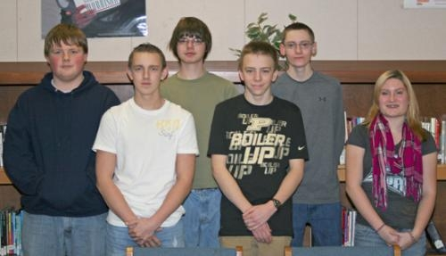 Huntington North High School sophomores (front row from left) Cameron Stuttle, Walter Hacker, Bethany Bassett and (back row from left) Austin Laux, Tyler Turner and Logan Boyer have had unique experiences during their required job shadowing.