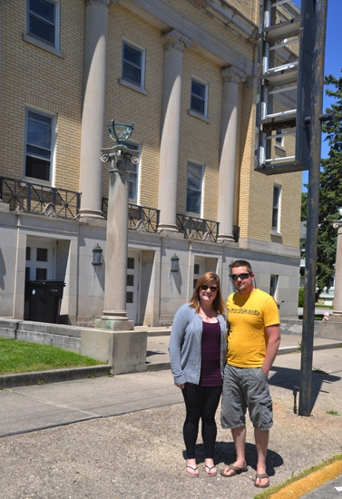 Theresa and Atom Cannizzaro are the new owners of Huntington's former Masonic Temple, a 20,000-square-foot building that has become their home and may, eventually, house a business.