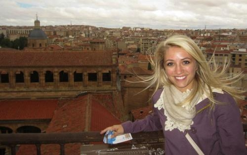 Madison Wright, a Huntington native, recently spent nine weeks in Madrid, Spain, as an au pair. While visiting, she took a day trip to Salamanca, a city two hours west of Madrid.