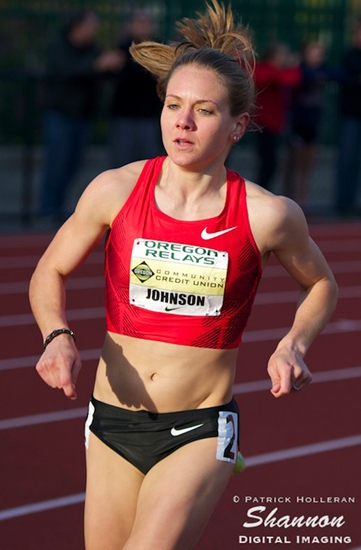 Andrews native Lauren Davenport Johnson, shown here competing several years ago in the Oregon Relays, will travel to Beijing, China, later this month as a member of Team USA to compete in the 1,500-meter run at the IAAF World Championships.