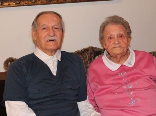 Edward and Hertha Sowell keep active on their own at home, with Edward driving and doing chores around their apartment home in Huntington. The couple celebrated their 73rd anniversary on March 13.