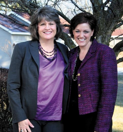 Minnesota 2012 Teacher of the Year Katy Smith (left) tours Huntington with Indiana 2012 Teacher of the Year Melanie Park on Thursday, Jan. 17.