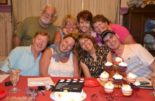 Working for a comeback of amateur theater in Huntington are (front row, from left) Alan Short, Michele Short, Janet Ashley and Christian Albertson; and (back row, from left) David Dean, Deanna Albertson, Rhonda Landrum and Becky Arnett.
