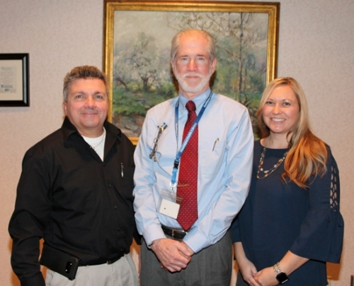 The members of the Huntington County Vacant Buildings Committee are (from left) Terry Miller, Malcolm McBryde and Dessie Krumanaker, who founded the group from a project birthed during a Huntington County Leadership Academy class. They seek to find occupants for the county's vacant commercial buildings.