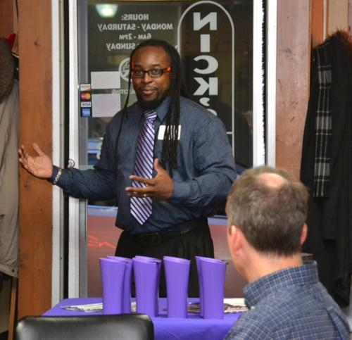 Arthur Wilson, campus pastor at Huntington University, discusses his relationship with the mentor he was paired with through Big Brothers Big Sisters of Northeast Indiana. Wilson spoke during an appreciation breakfast for local BBBS mentors.