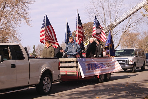 A Veterans Day Parade will be held on Saturday, Nov. 7, with staging to begin at 9 a.m. at the Huntington North High School west parking lot. Parade participants are to enter HNHS at the MacGahan Street entrance.
