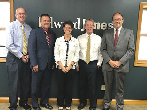 Edward Jones financial advisors are the sponsors of Eric Clancy Jazz, the musical entertainment at JeFFFest, set for June 24 in downtown Huntington from 6 p.m. to 8:30 p.m. Pictured are (from left) Scott Atkinson, Trent McBride, Nicole Johnson, Jim Ditzler and Jim Scheiber. Advisors not pictured are Chuck Harris, Adam Harris, John Nelson and Jim Warner.