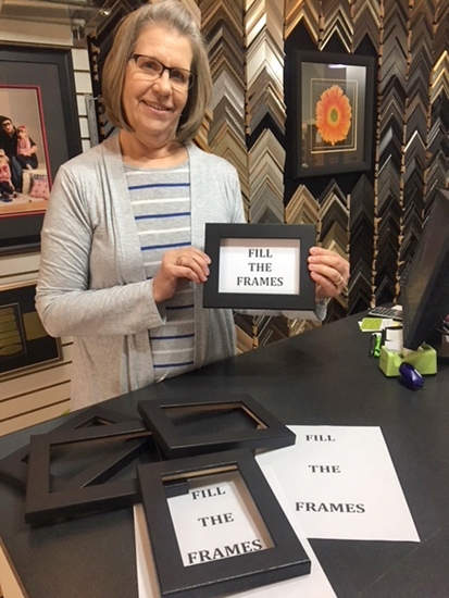 "Paula Bittner, owner of Four Corners Custom Framing, has made more than 100 frames and has begun selling canvases for this year's JeFFFest. Artists are invited to ""fill the frames"" with an original artwork and submit the work for the JeFFFest silent art auction. JeFFFest is sponsored by the frame shop and the LaFontaine Arts Council. The event will be held in downtown Huntington on June 24,from 6 p.m. to 8:30 p.m."