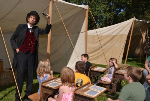 Danny Russel, in character as Abraham Lincoln, brings the 16th president of the United States to life during the 2017 Forks of the Wabash Pioneer Festival. Russel will return to this year's festival on Saturday, Sept. 22, and Sunday, Sept. 23.