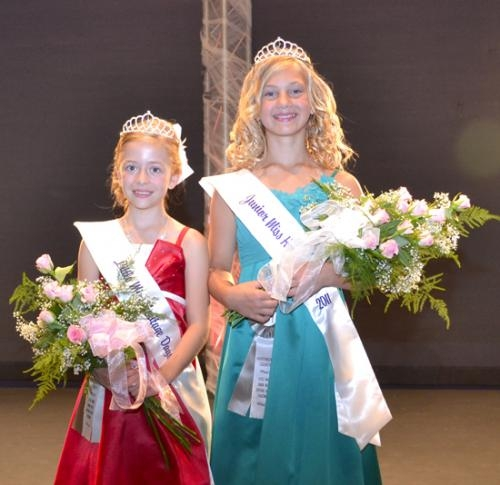 Lauryne Pearson (left) was named Little Miss Heritage Days on Wednesday, June 15, while Raegan Killigrew (right) won the Junior Miss Heritage Days crown.
