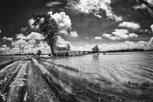Bryan Ballinger's photo of a flooded field surrounding a rural Huntington home in 2015 won first place in the physical environment category of the History in the Making Photo Contest, which was a part of the Forks of the Wabash Pioneer Festival. The winners were announced Saturday, Sept. 23.
