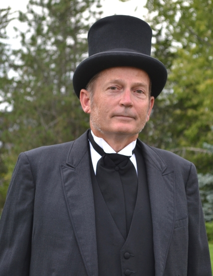 """Rev. John M. Backes, pastor of Bethel Assembly of God in Huntington, will lead the Forks of the Wabash non-denominational pioneer church service on Sunday, Sept. 23, at 9 a.m. in the 'opera house saloon"""" (Show Arena at Hier's Park)."""