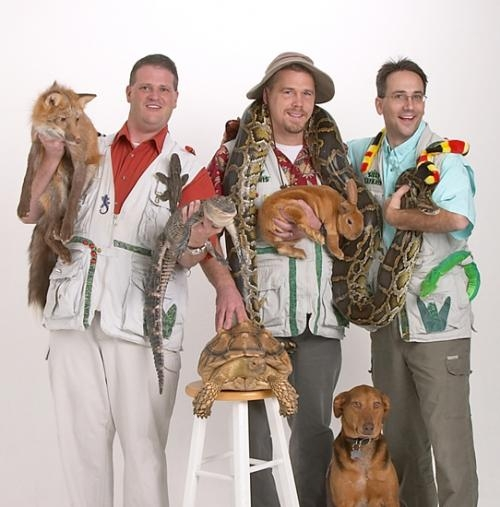 Silly Safaris starring Safari Steve (right) will bring its live animal show to the Roanoke Fall Festival this weekend. The free show will be held on Saturday, Sept. 8, at 5 p.m. in the main festival tent at Roanoke Park.