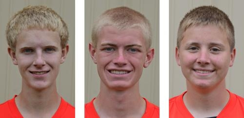 (From left) Tommy Bolinger, Wyatt Nave and Cameron Buzzard.