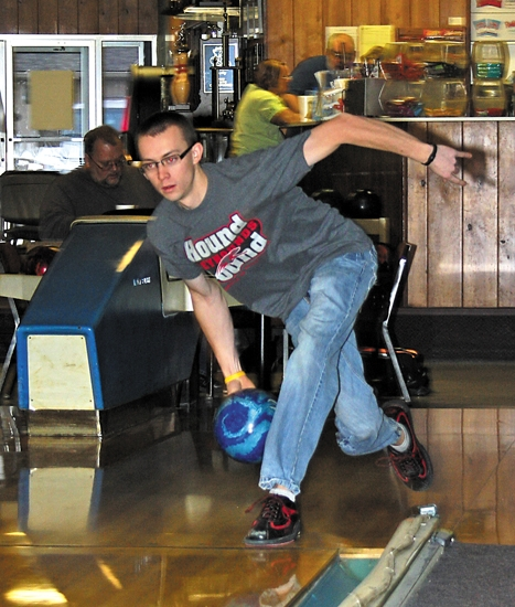The Professional Bowlers Association (PBA) announced on Tuesday, Jan. 14, that EJ Tackett, of Huntington, shown here practicing earlier this year at Oak Lanes, had been named the 2012-13 Harry Golden PBA Rookie of the Year.