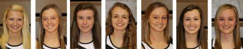 The sectional champion Huntngton North High School girls' tennis team is composed of (from left) Kylie Fredrick, Kari Bard, Emily Eherenman, Mariah Zumbrun, Ashley Bard, Ana Eckert and Emily Karst.