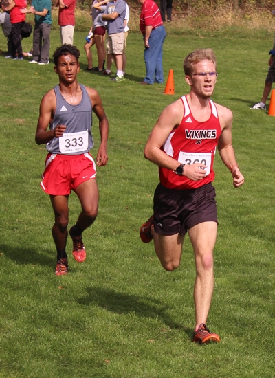 Huntington North senior Aaron Hendryx competes Saturday, Oct. 21, at the New Haven Boys' Cross Country Semi-state at The Plex, in Fort Wayne.