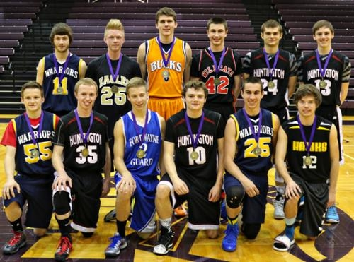 Four members of the Huntington Eagles boys' basketball team played for the Indiana Christian Basketball Alliance (ICBA) north varsity boys' all-star team in the ICBA North-South Varsity All-Star Game on Saturday, April 12.