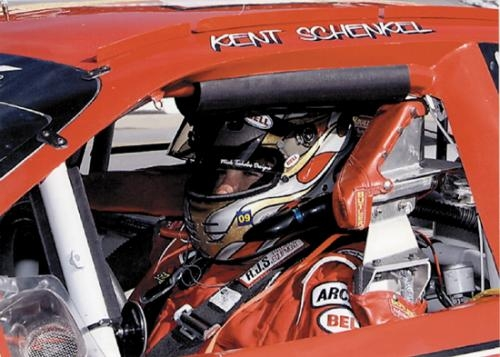 Shown in his car, Kent Schenkel, of Huntington, has driven in the Automobile Racing Club of America (ARCA) since 2009. He retired from the sport after racing in the Michigan ARCA 200 at Michigan International Speedway on Friday, June 14.