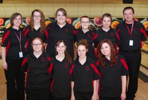 The Huntington North High School girls' varsity bowling team placed third at the South Bend Semi-State at Chippewa Bowl in South Bend on Feb. 9, to punch its ticket to the Indiana High School Bowling State Finals.