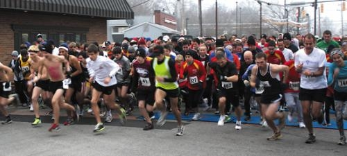 Runners take off from in front of McDonald's during a previous Turkey Trot hosted by Pathfinder Kids Kampus. This year's event will take place on Thanksgiving morning, Nov. 22.